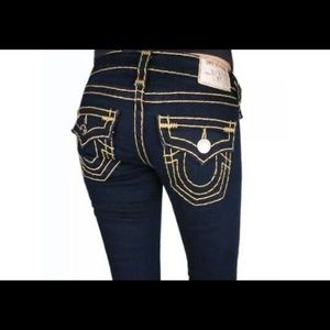 True Religion Bobby Super T Dark Washes Jeans